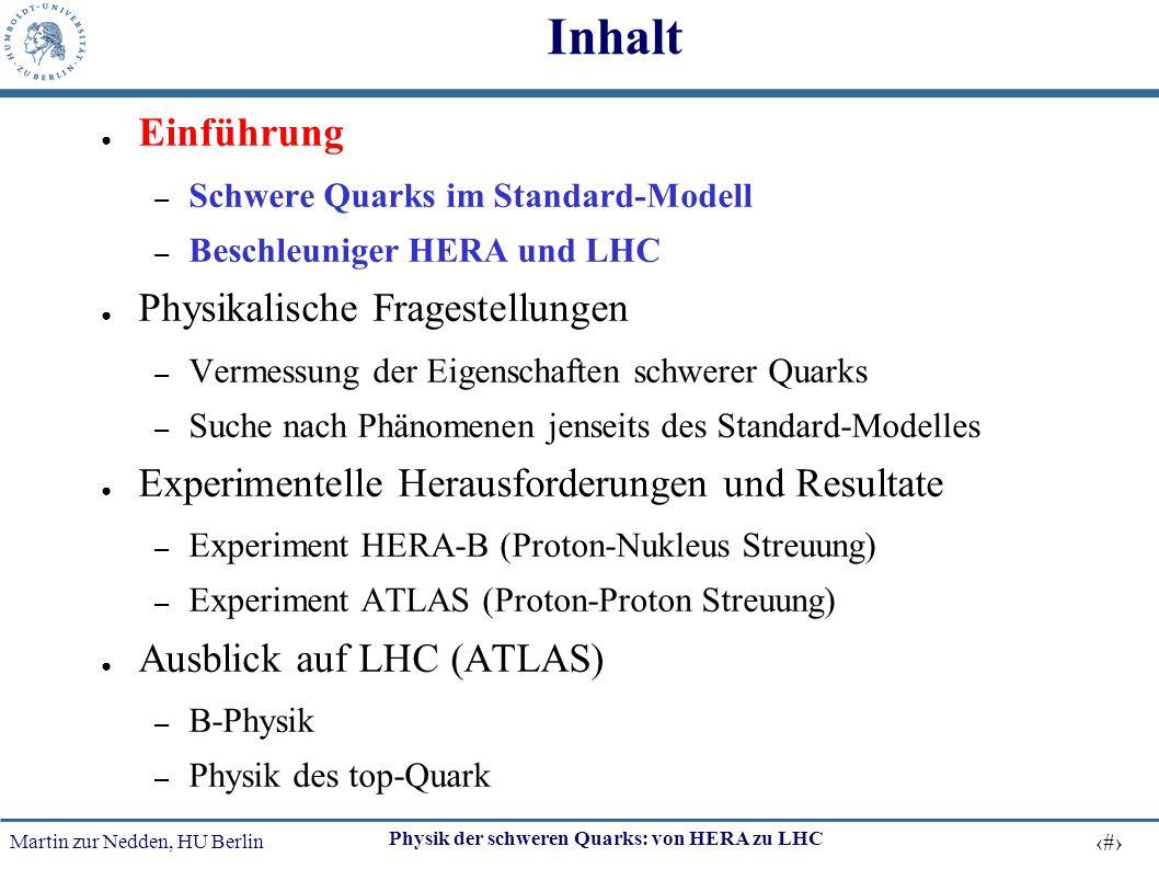 Inhalt Einführung Physikalische Fragestellungen