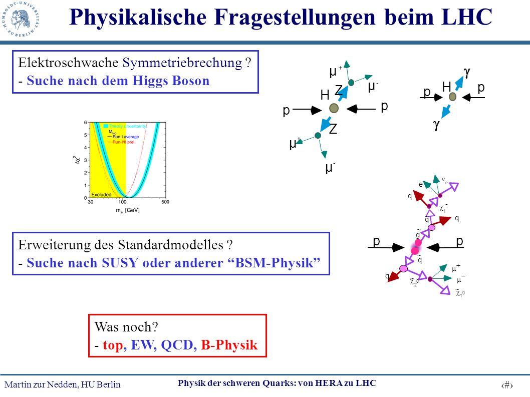 Physikalische Fragestellungen beim LHC