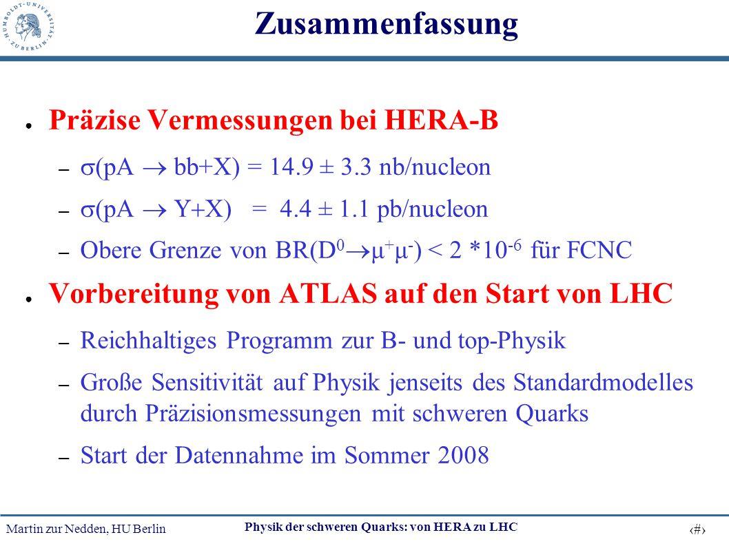 Zusammenfassung Präzise Vermessungen bei HERA-B