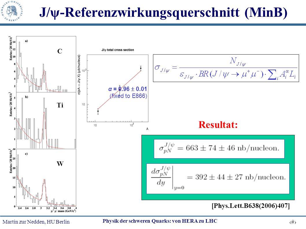 J/ψ-Referenzwirkungsquerschnitt (MinB)