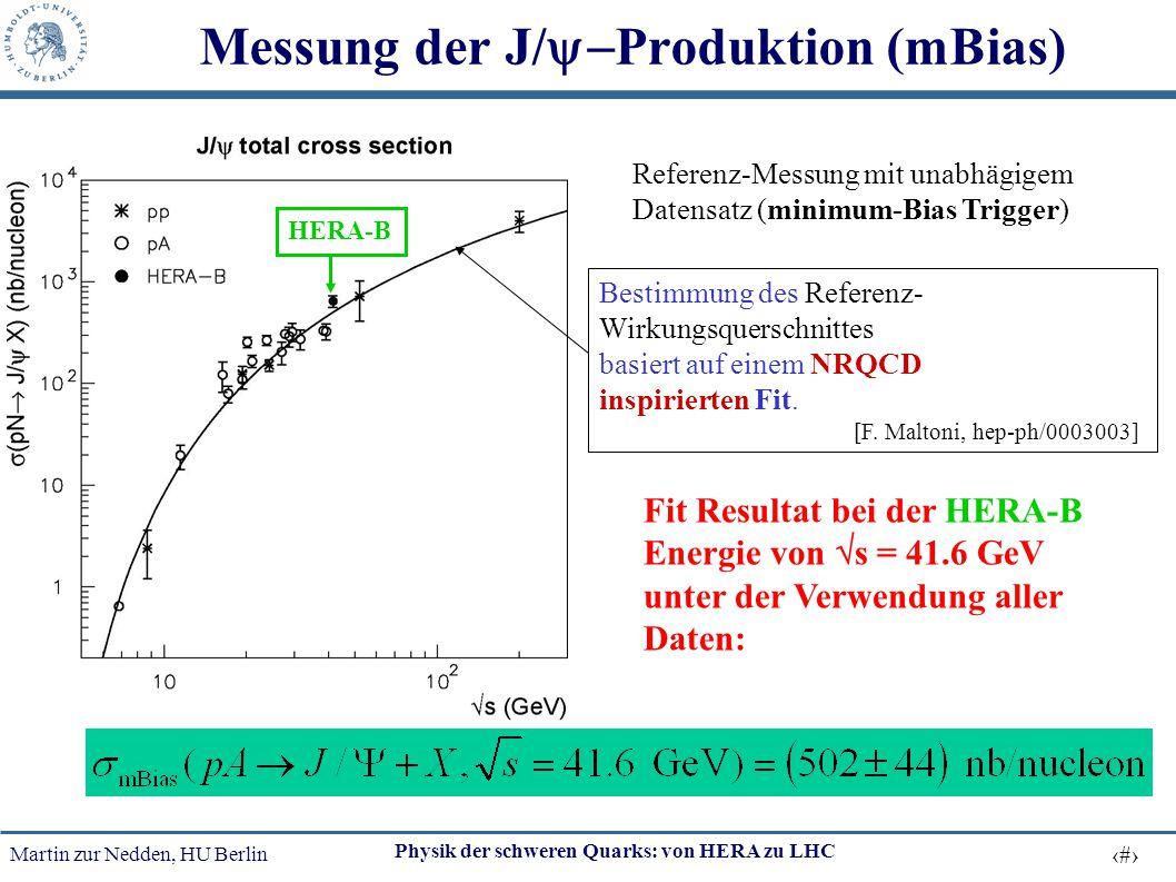 Messung der J/y-Produktion (mBias)
