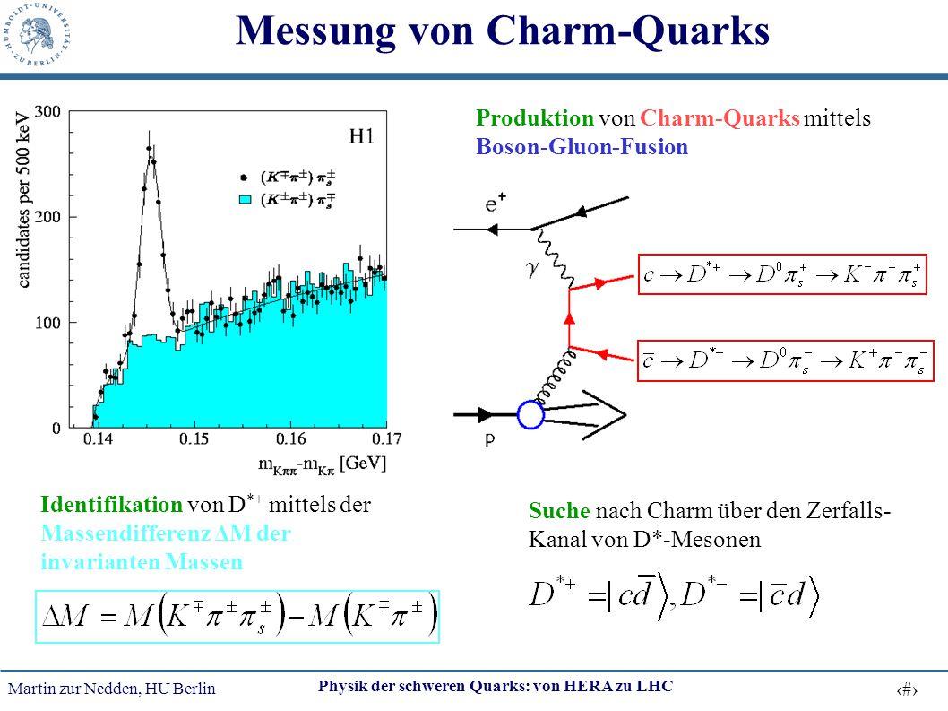 Messung von Charm-Quarks
