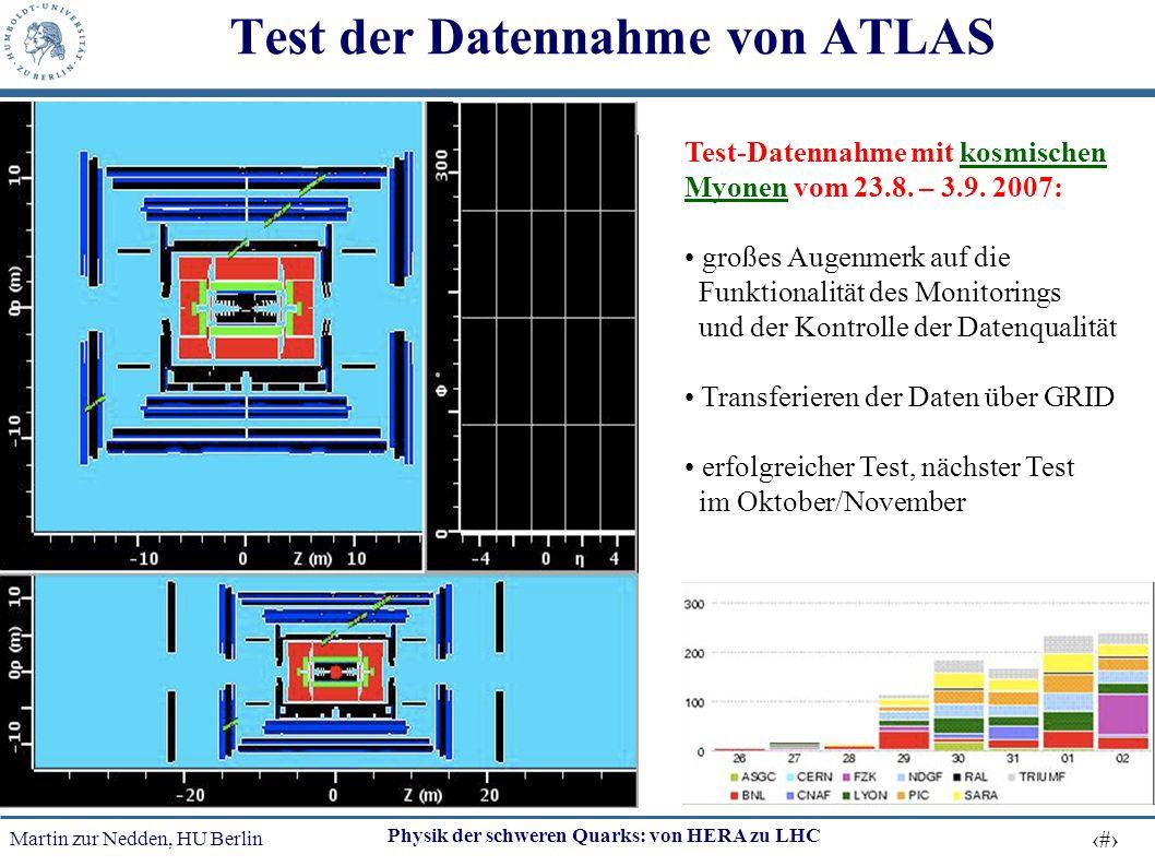 Test der Datennahme von ATLAS