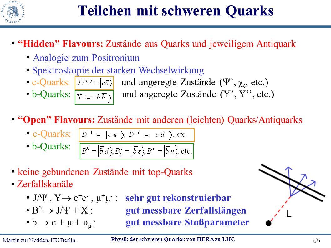Teilchen mit schweren Quarks