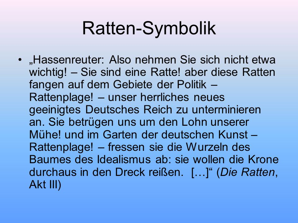 Ratten-Symbolik