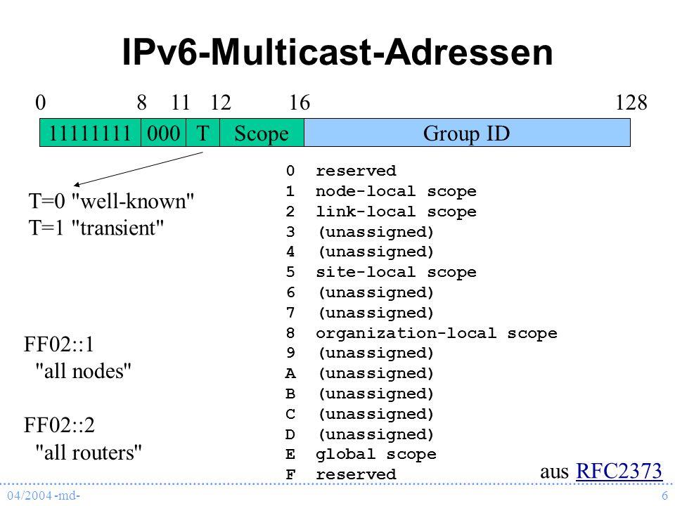 IPv6-Multicast-Adressen