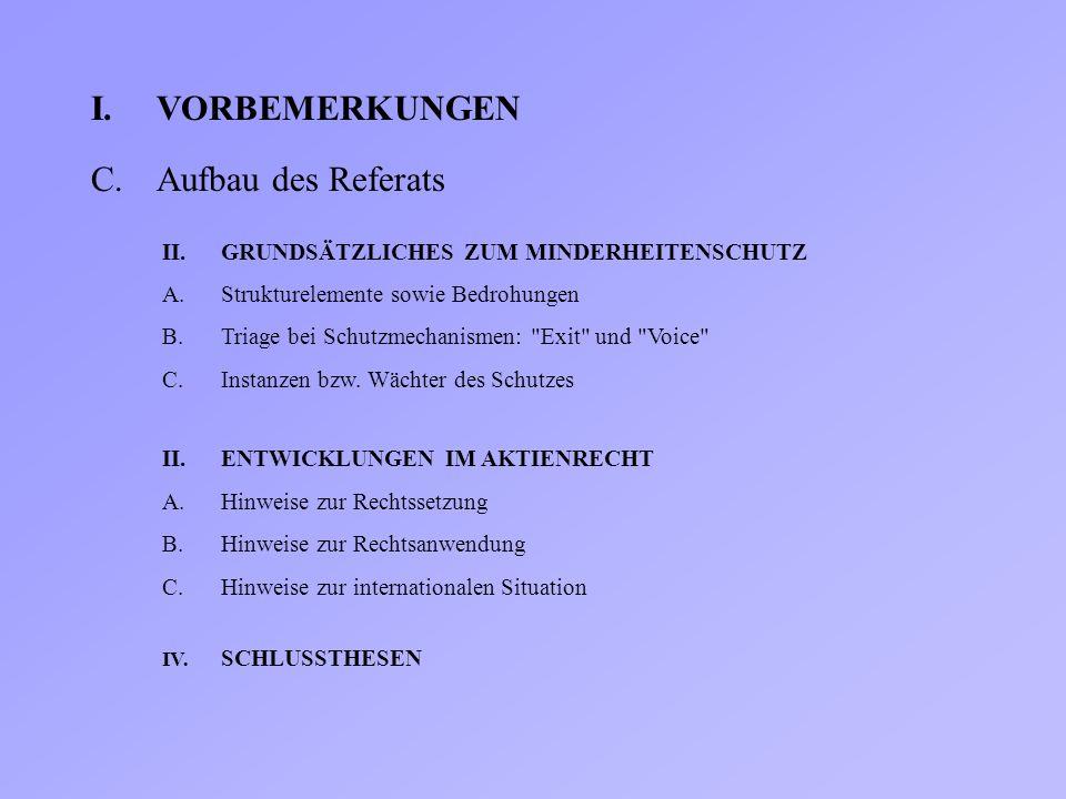 I. VORBEMERKUNGEN C. Aufbau des Referats