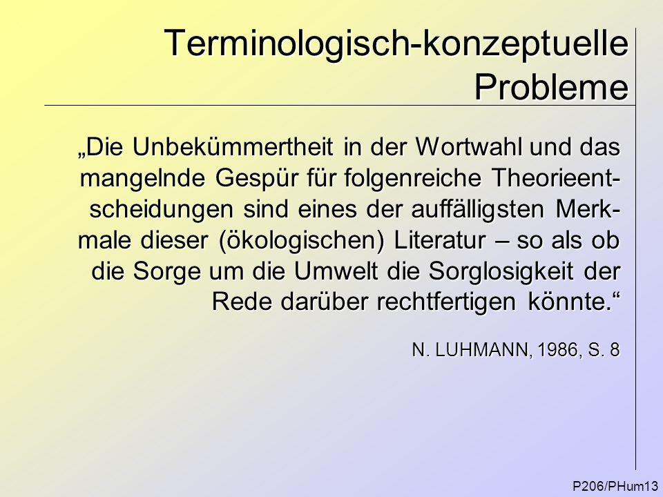 Terminologisch-konzeptuelle Probleme