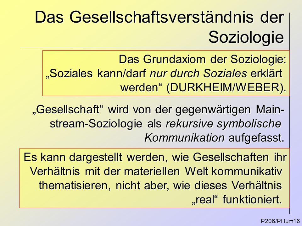 Das Gesellschaftsverständnis der Soziologie