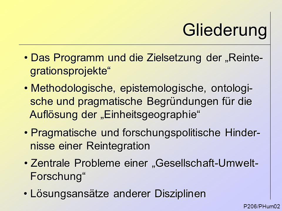 """Gliederung Das Programm und die Zielsetzung der """"Reinte-"""