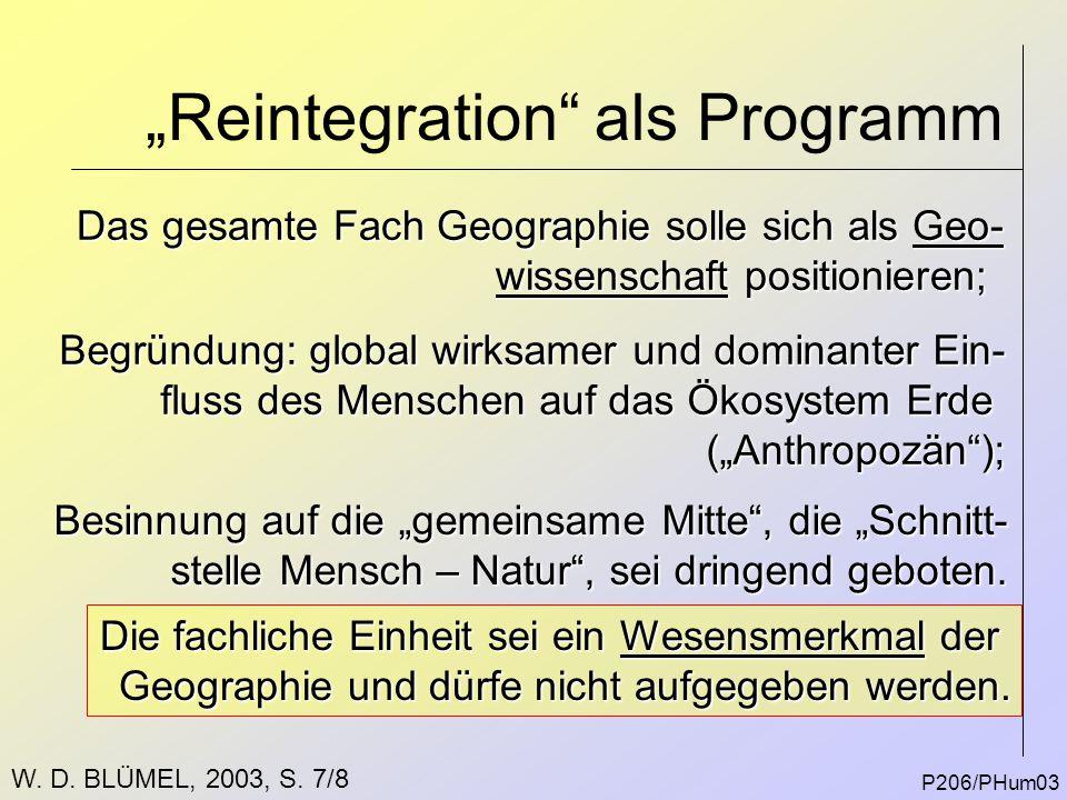 """Reintegration als Programm"