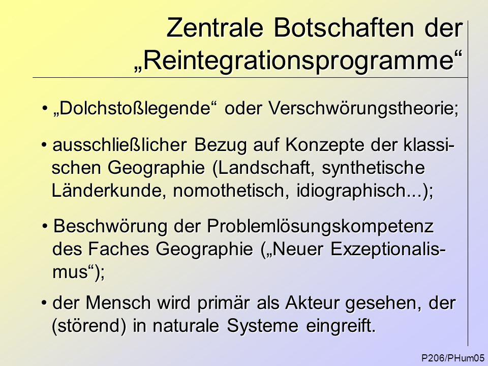 """Zentrale Botschaften der """"Reintegrationsprogramme"""