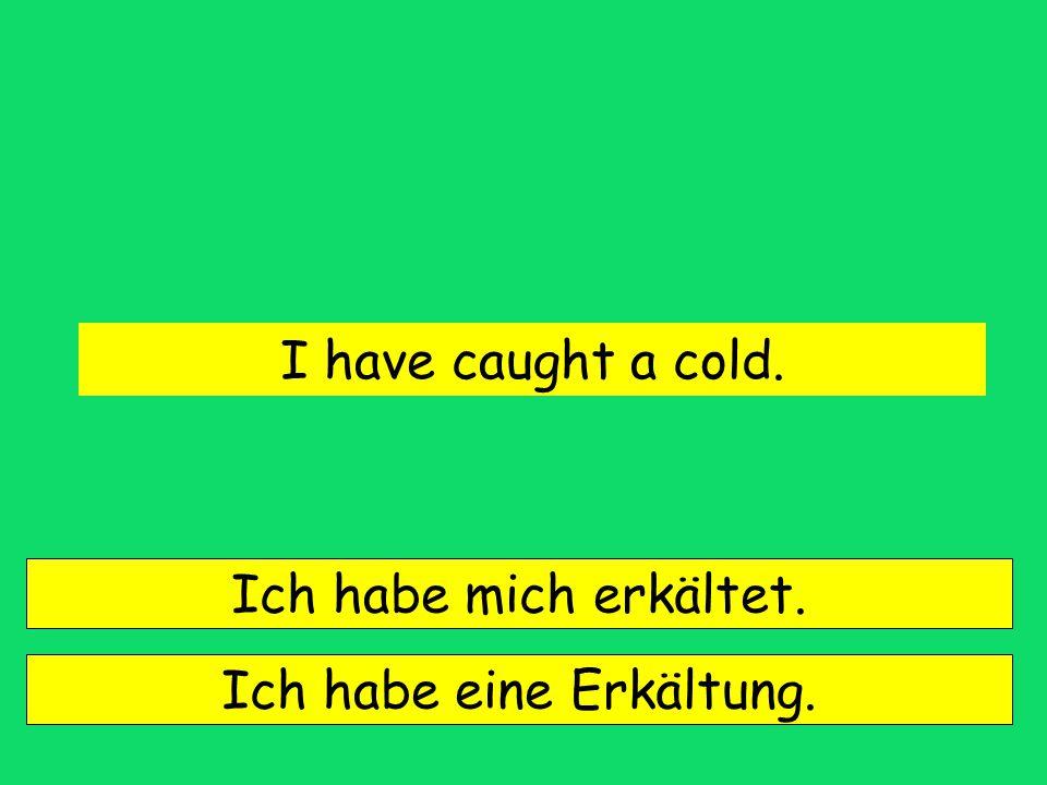 Ich habe eine Erkältung.