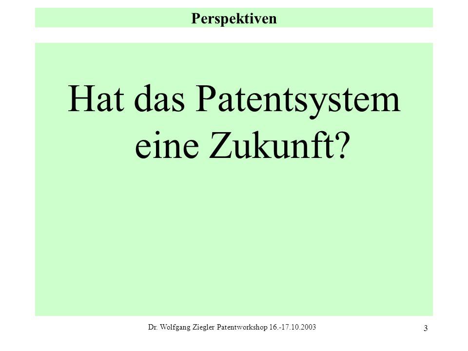 Hat das Patentsystem eine Zukunft