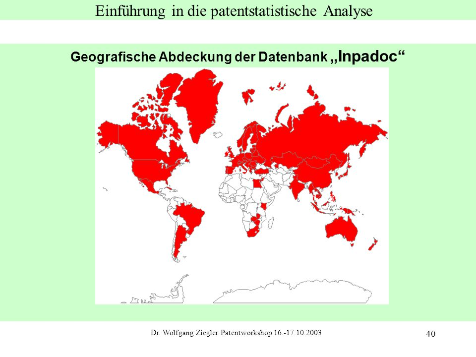Einführung in die patentstatistische Analyse