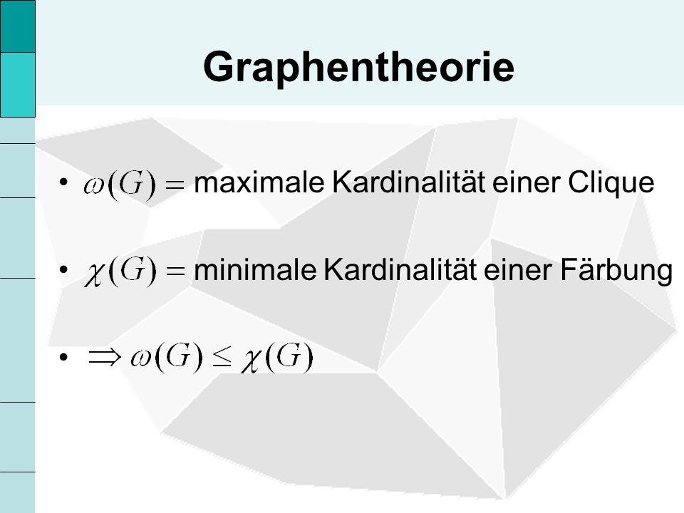 Graphentheorie maximale Kardinalität einer Clique