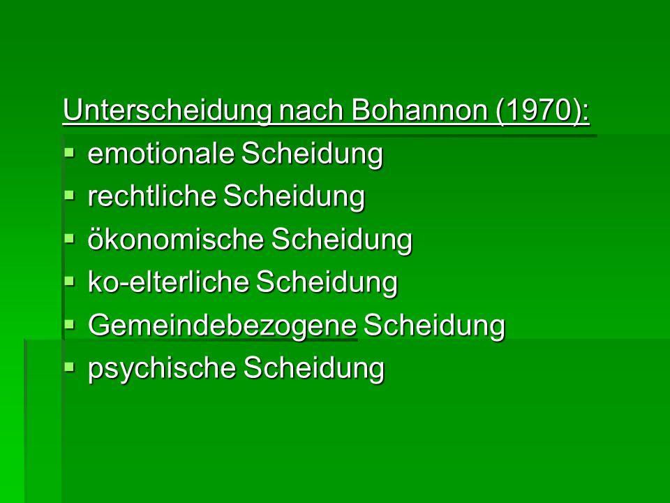 Unterscheidung nach Bohannon (1970):