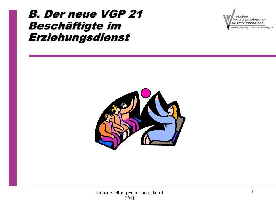 B. Der neue VGP 21 Beschäftigte im Erziehungsdienst