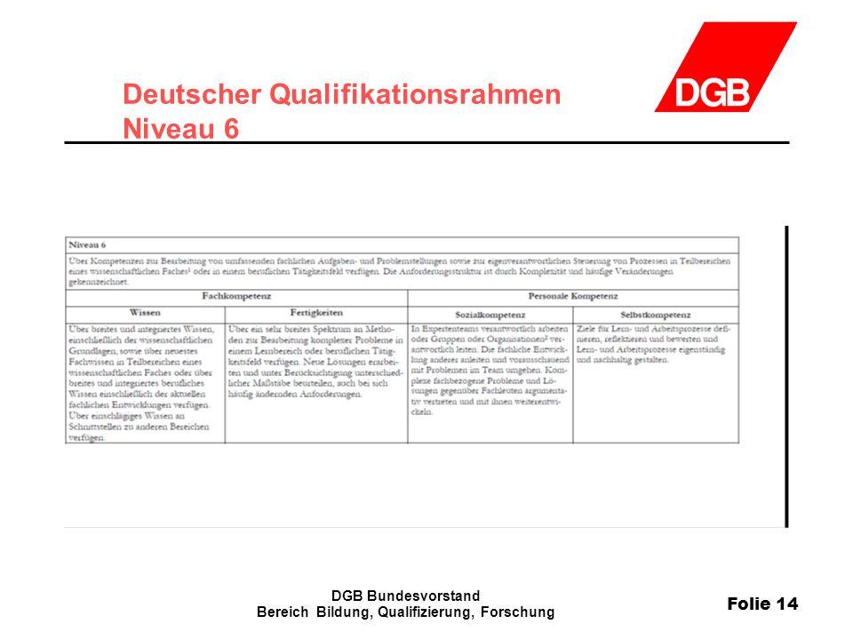 Deutscher Qualifikationsrahmen Niveau 6