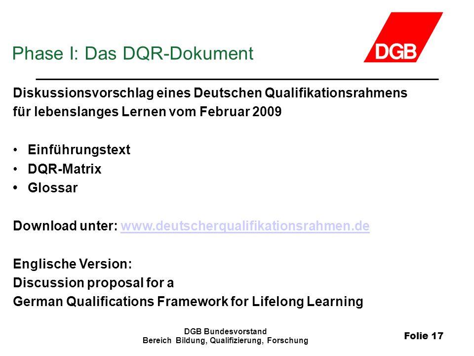 Bereich Bildung, Qualifizierung, Forschung