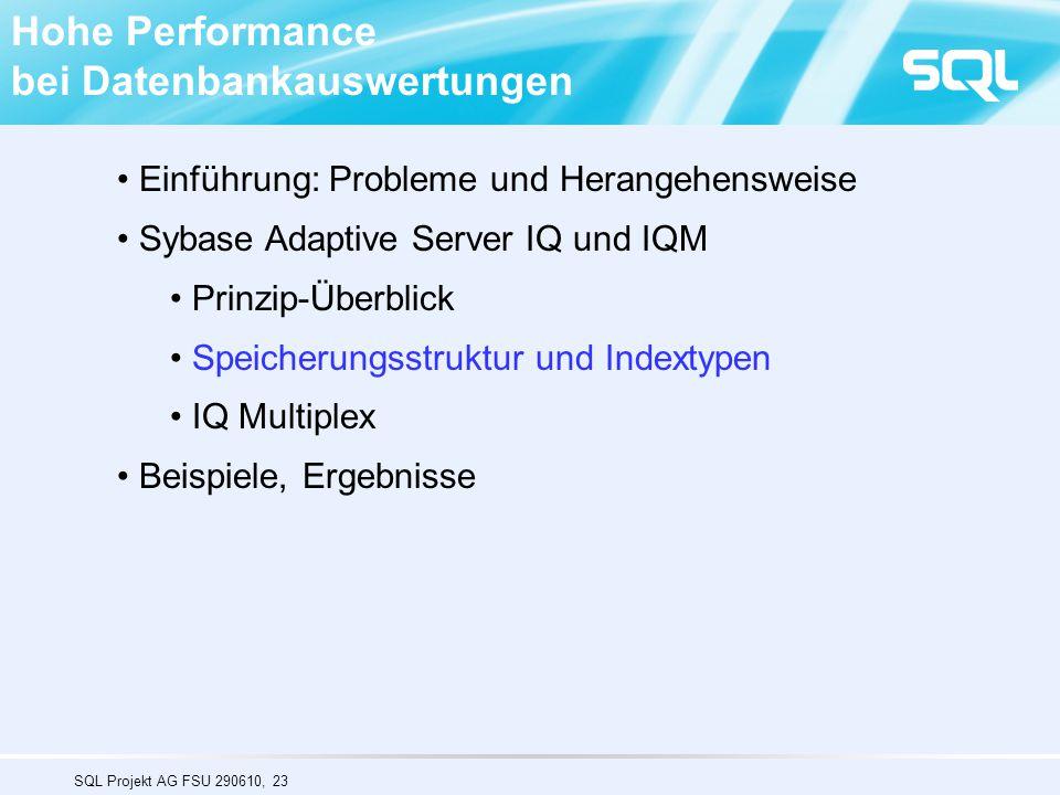 Hohe Performance bei Datenbankauswertungen