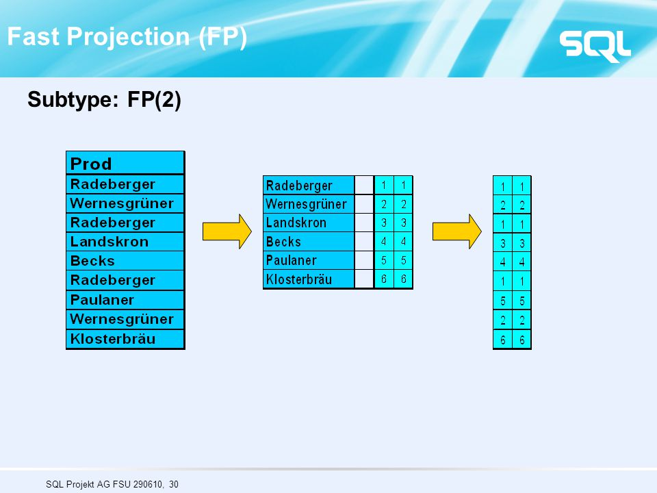 Fast Projection (FP) Subtype: FP(2)