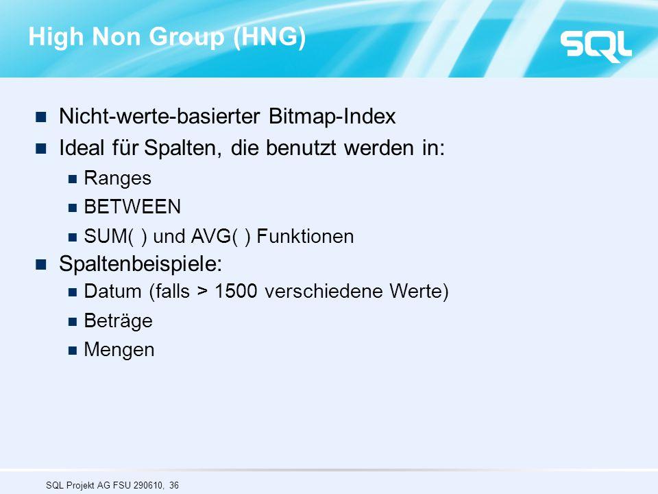 High Non Group (HNG) Nicht-werte-basierter Bitmap-Index