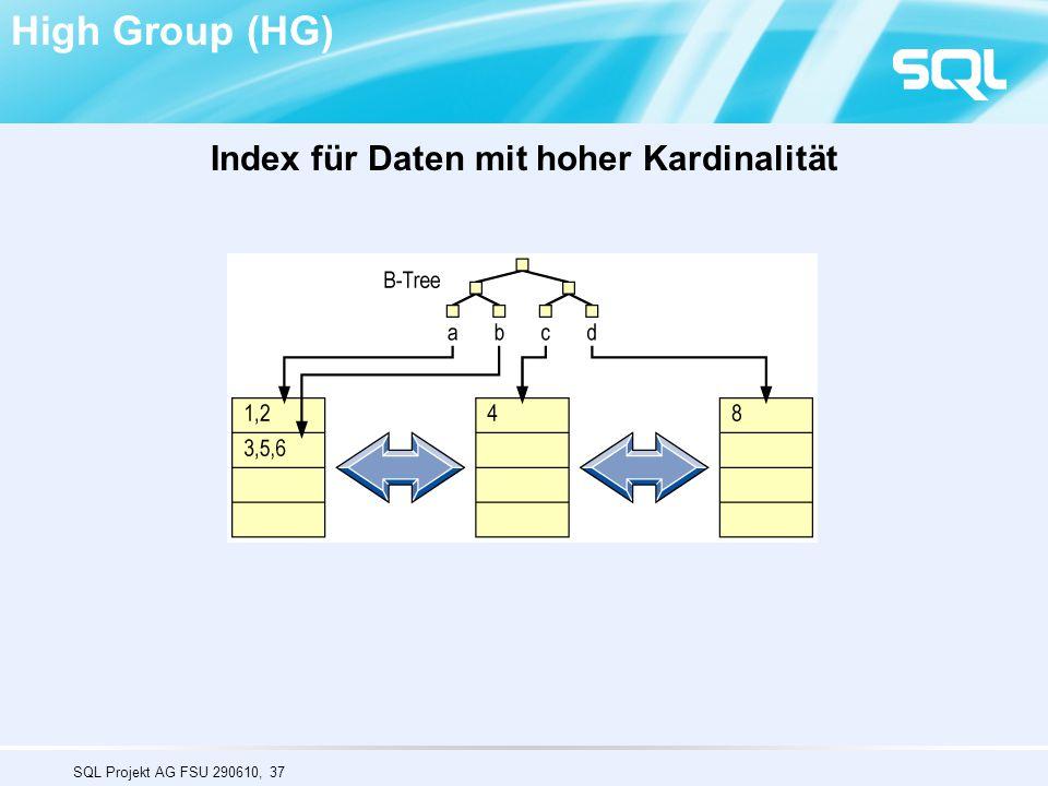 Index für Daten mit hoher Kardinalität