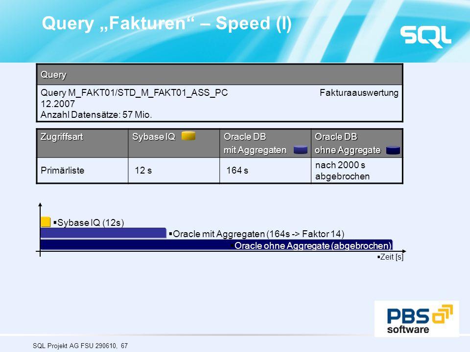 "Query ""Fakturen – Speed (I)"