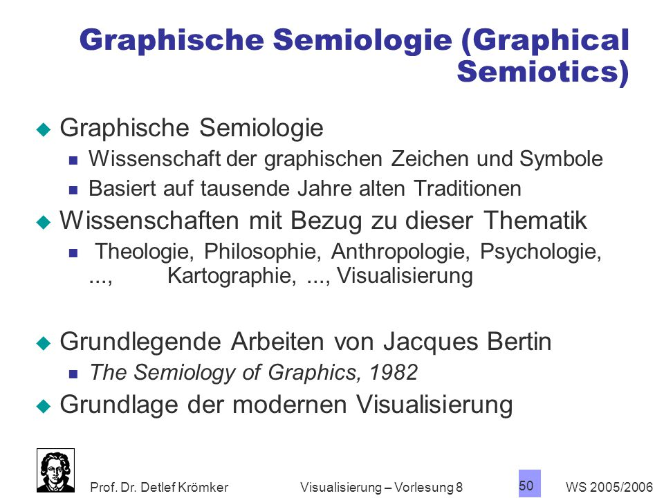 Graphische Semiologie (Graphical Semiotics)