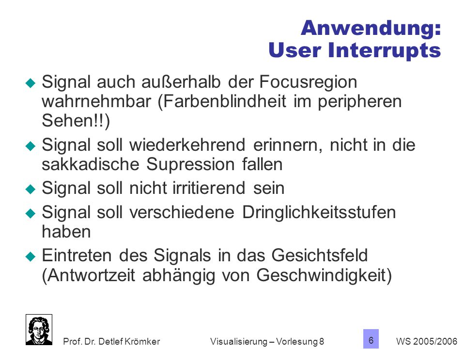 Anwendung: User Interrupts