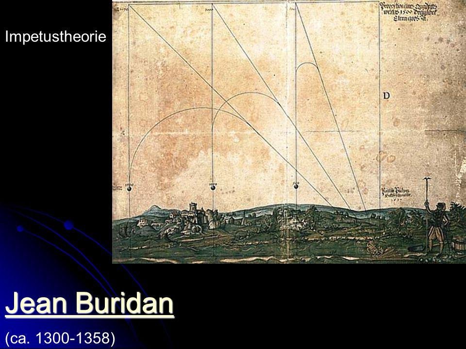 Jean Buridan Impetustheorie (ca. 1300-1358) Professor in Paris.