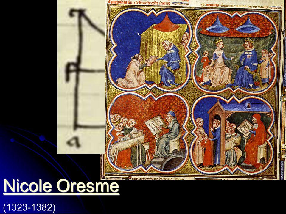 Nicolas Oresme geb. in der Normandie. Studiert in Paris