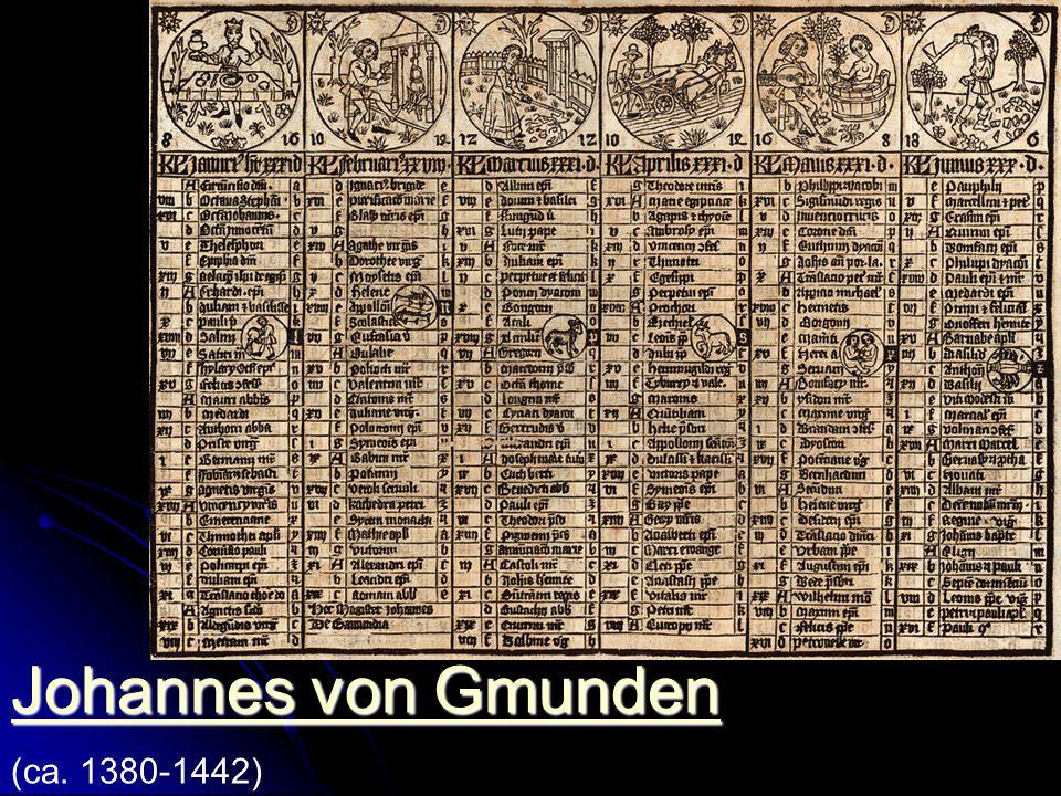 Johannes von Gmunden (ca. 1380-1442)