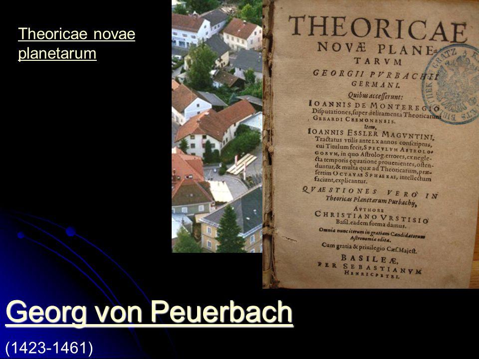 Georg von Peuerbach Theoricae novae planetarum (1423-1461)