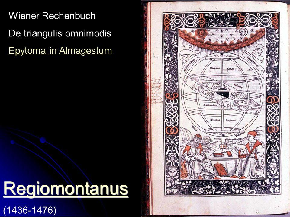 Regiomontanus Wiener Rechenbuch De triangulis omnimodis