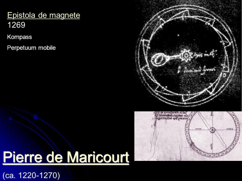 Pierre de Maricourt Epistola de magnete 1269 (ca. 1220-1270) Kompass