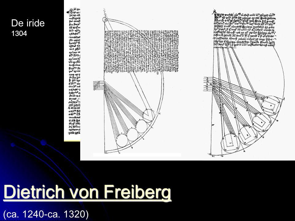 Dietrich von Freiberg De iride 1304 (ca. 1240-ca. 1320)