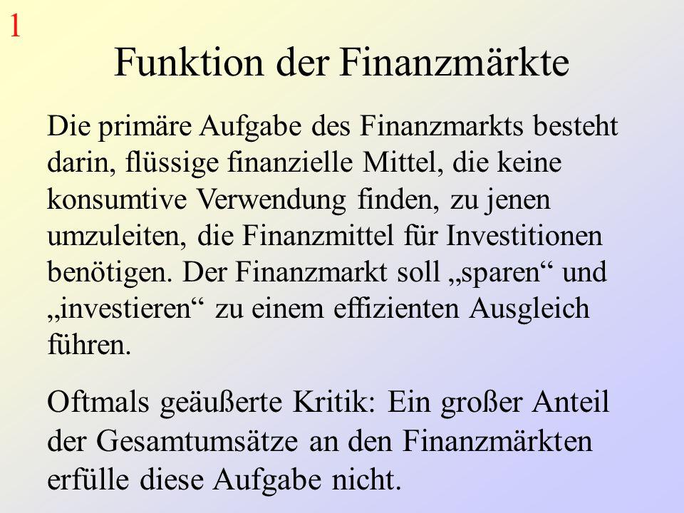 Funktion der Finanzmärkte