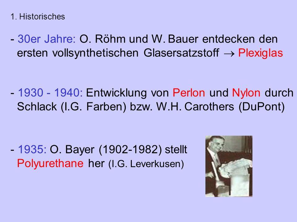 30er Jahre: O. Röhm und W. Bauer entdecken den
