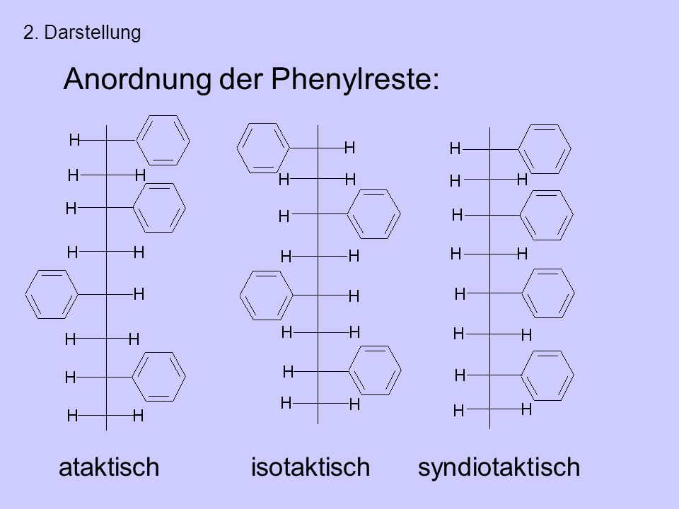 Anordnung der Phenylreste: