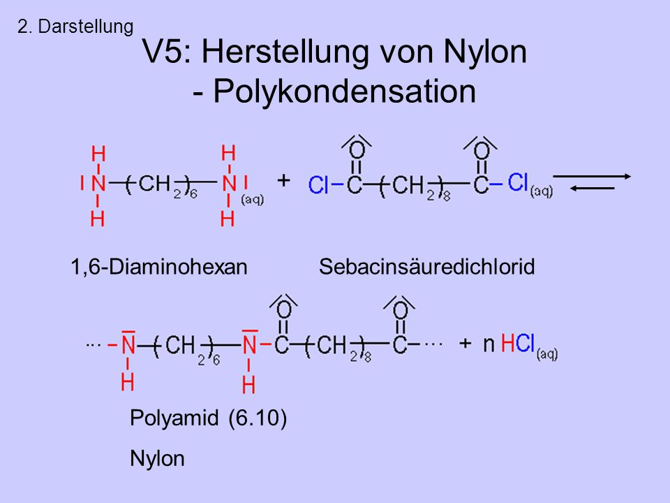 V5: Herstellung von Nylon - Polykondensation