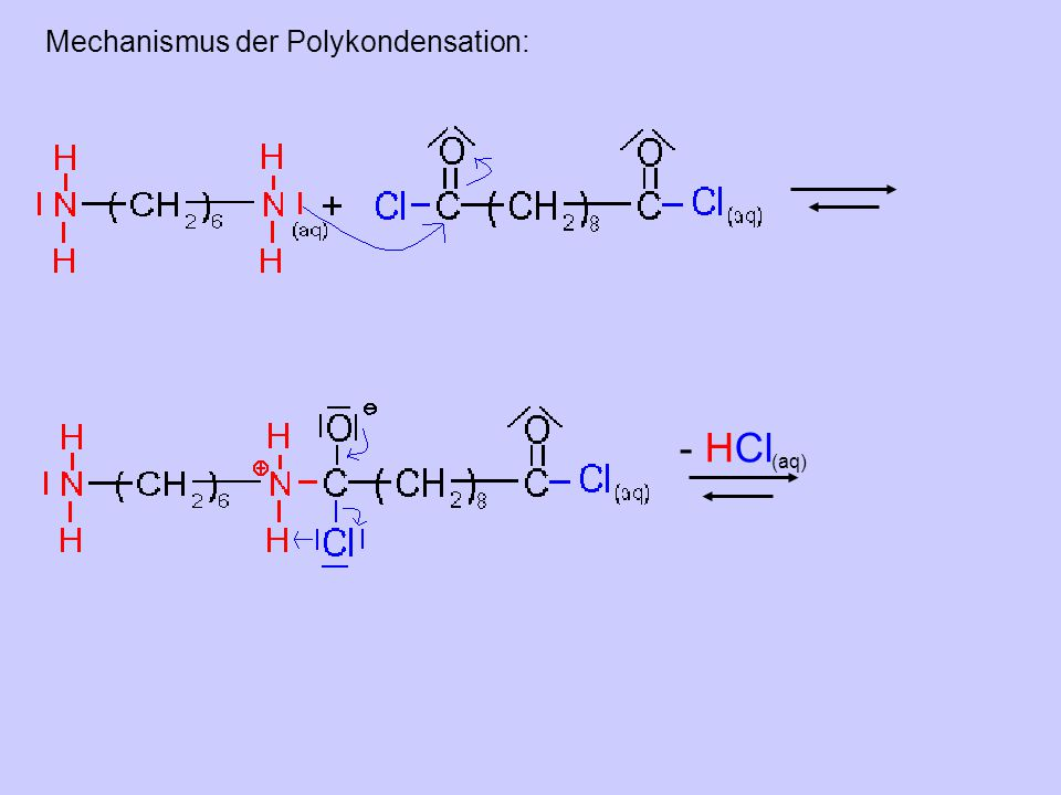 Mechanismus der Polykondensation:
