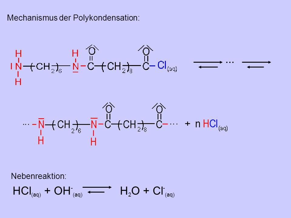 HCl(aq) + OH-(aq) H2O + Cl-(aq)