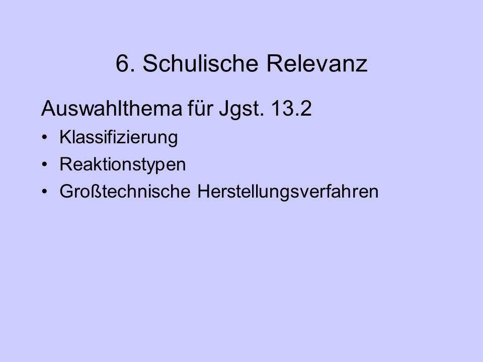 6. Schulische Relevanz Auswahlthema für Jgst. 13.2 Klassifizierung
