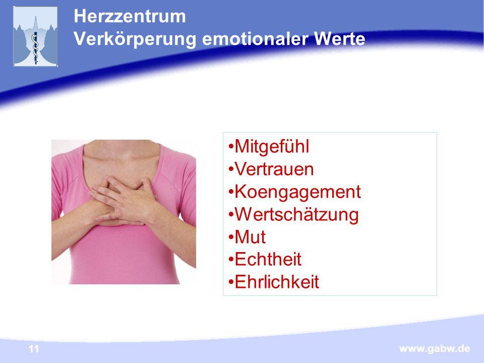 Herzzentrum Verkörperung emotionaler Werte