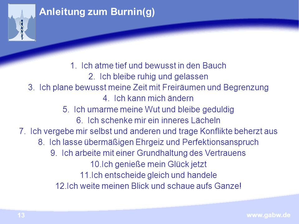 Anleitung zum Burnin(g)