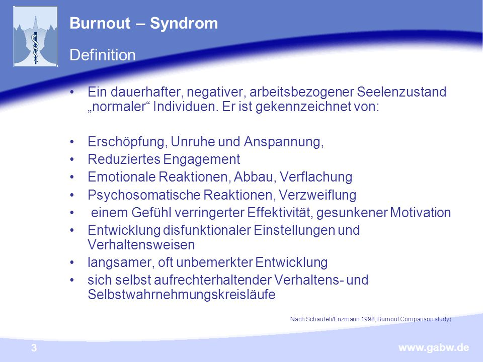 Burnout – Syndrom Definition
