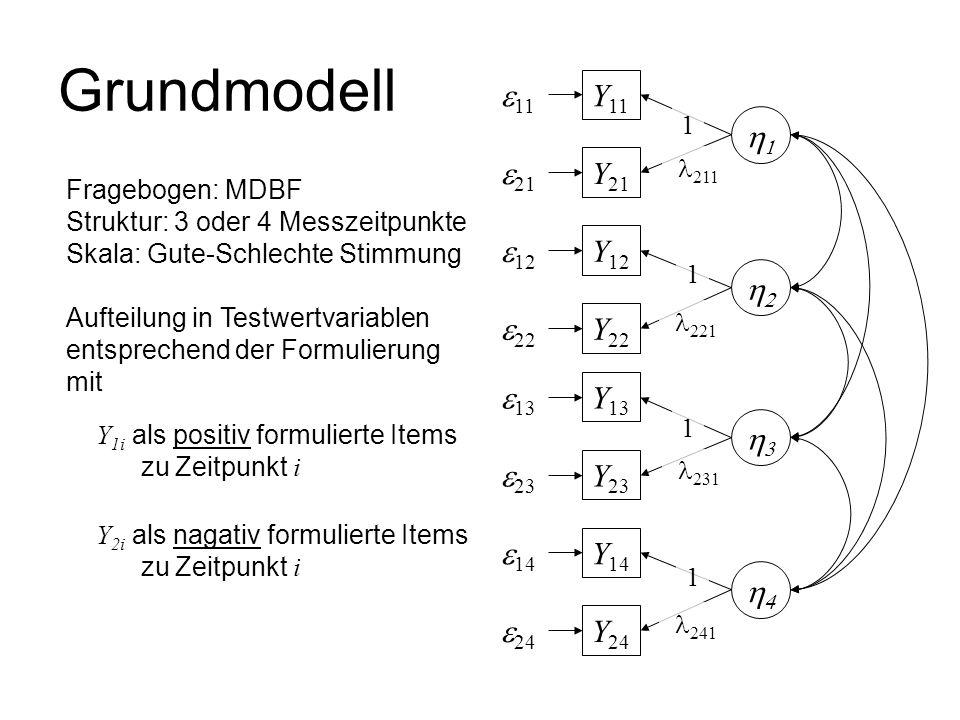 Grundmodell e11 Y11 1 e21 Y21 e12 Y12 2 e22 Y22 e13 Y13 3 e23 Y23