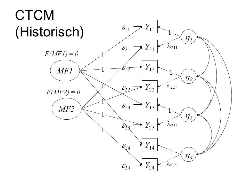 CTCM (Historisch) e11 Y11 1 e21 Y21 MF1 e12 Y12 2 e22 Y22 MF2 e13